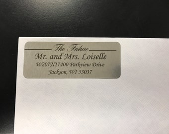 30 Silver Future Mr and Mrs Wedding Address Labels, Wedding Return Address Label, Silver Wedding Address Labels, Return Address Labels