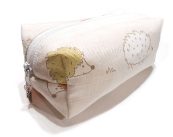 Hedgehog pencil case, Hedgehog makeup bag, Hedgehog cosmetic bag