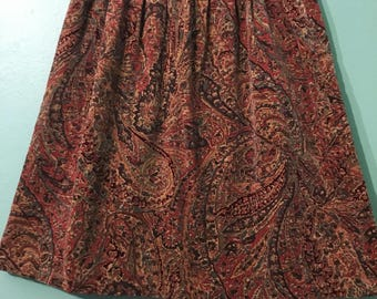 Olivia skirt- paisley velvet mini skirt