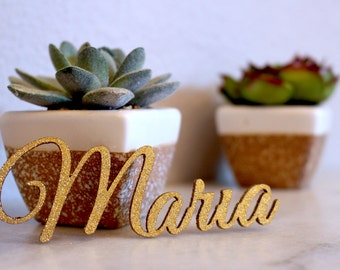 Laser Cut Names // Wedding Place cards // Custom Place Setting // Guest Names