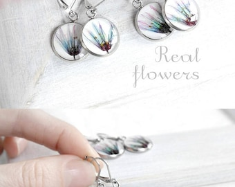 Wedding earrings for bridesmaid Drop earrings for women Elegant jewelry for teen Present for her Chic earring set bridesmaid present earring