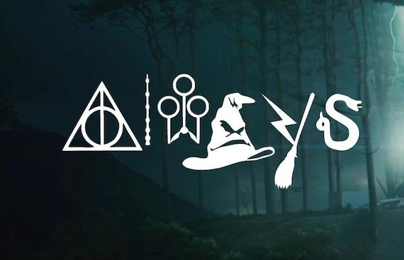 Harry Potter  Symbol Always Decal -  Car decal Window Sticker - Laptop Sticker Decal