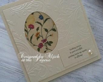 Sympathy Card, Handmade, Encouragement, Condolence, Thinking Of You, Personalized