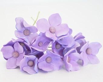 12 Hydrangea Sugar Flowers