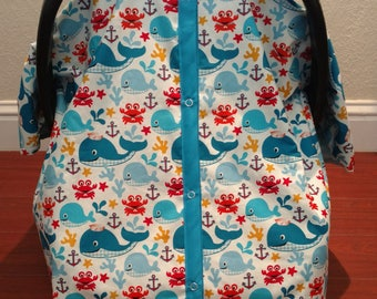 Whales Car Seat Canopy