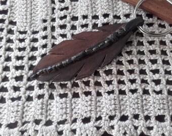 key chain braun leather ref: KC 25