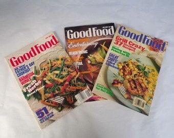 ON SALE -Vintage Good Food Magazine - June- July- August of 1988 - Cook Books