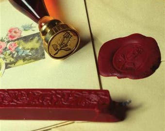 Calligraphy Rose Seal & Wax Gift Set