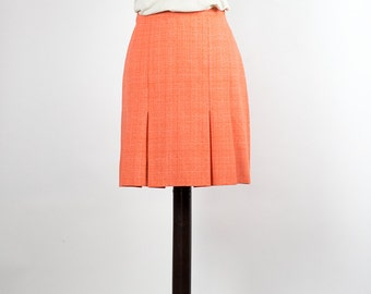 Vintage Skirt //Mini Skirt// Orange
