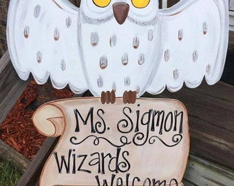 Owl Door Hanger Etsy