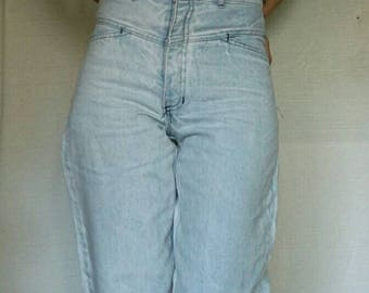 VINTAGE 80's jeans//higth waist//narrow down//narrow hips