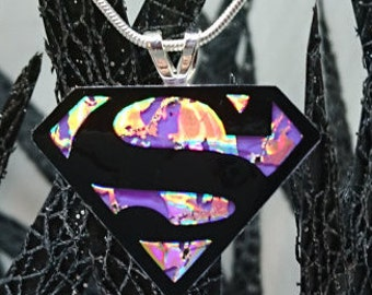 Superman Recycled DVD Necklace