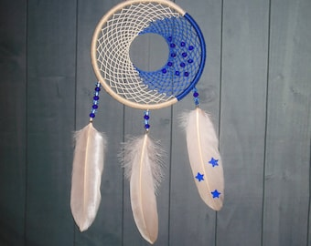 "Dreamcatcher ""Twinkle Twinkle Little Star""  \ Large Dream catcher \ attrape reves \ Traumfanger  \ blue mobile \ Wall Hangings \ Decor"