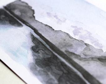 Sri Lankan Lake A5 Watercolour Print