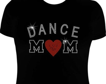 Dance Mom shirts-rhinestone-dance mom-dance mom iron on transfer