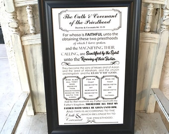 Juicy image inside oath and covenant of the priesthood printable