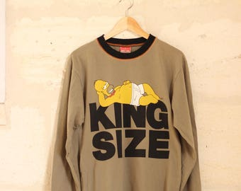 Vintage Homer Simpson 'King Size' Long Sleeved T-Shirt