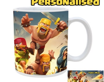 Clash of clans mug with personalised name