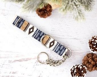 Blue Tribal Dog Collar - Dog Collar - Unisex Dog Collar - Festive - Winter - Camping