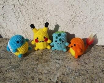 Amigurumi Pokemon Paso A Paso : Pokemon amigurumi Etsy