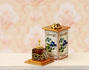 Miniature perfume 1/12 , Dollhouse Miniature, miniature furniture, Diorama, miniature accessories