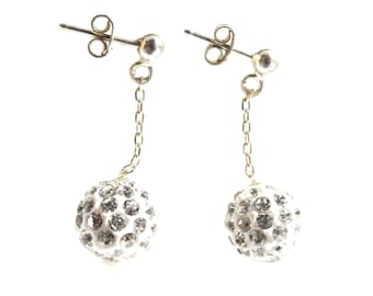 Beautiful solid 925 sterling silver Disco earrings