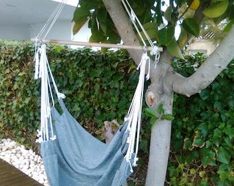 "Hanging chair hammock smooth thread - Hammock chair - Hammock hanging chair Scandinavian style - HAMMOCK (40""- 100cms.)"