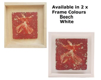 Gift Wall-Art Stone Travertine Tile Real Wood Framed Turkish Red Whirling Dervish Designs