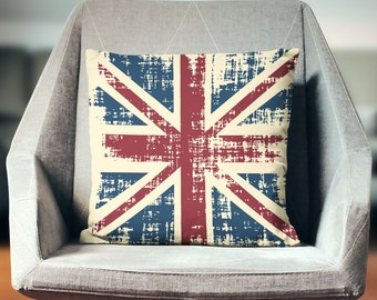 Union Jack Pillow | Industrial Pillow | British Flag Pillow | Vintage Pillow | Union Jack Cushion | Union Jack Decor | British Pillow