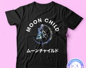 Holographic Moon Child T-shirt Sailor Moon