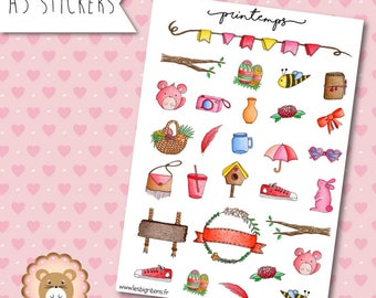 "Planners Stickers ""Spring"""