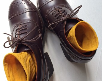 70s Oxford Platform Leather Shoes