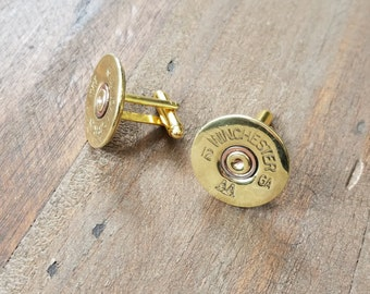 Handmade Spent Shotgun Cuff Links Bullet Cuff Links Bullet Cufflinks Gold Winchester Men's Accessories 12GA 12 Gauge