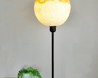 Gold Standing Floor light, Bedside Soft Light, Bedroom Romantic Light / Lamp, Table Paper Lamp, Office Desk Lighting Decor, Paper Lamp shade