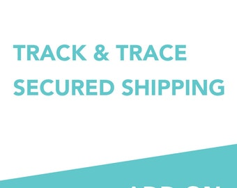 ADD ON: Track & trace - insured shipping