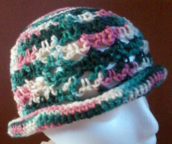 Free Crochet Pattern Multi Colored Hat : Crocheted Sun hat multi-colored