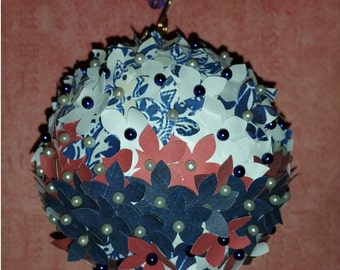 Paper Flower Ornament # 17