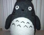 Totoro, Large Totoro, Amigurumi Totoro, Handmade Totoro, Crochet Totoro, Jumbo Totoro, Grey Totoro, Gift, Present, Toy, Birthday Gift