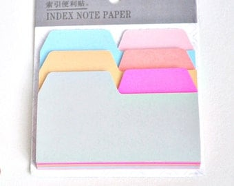 Colourful Index Sticky Notes, Sticky Note Index Page Tabs - PJ199
