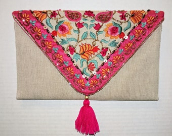 Divine Florid Embroidered Clutch
