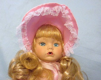 Beautifiul Early 1990s Doll Baby - Porcelain Face, Hands, Legs - Soft Body