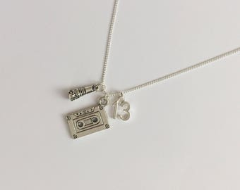 13 Reasons Why Inspired Charm Necklace - Hannah Baker - Handmade Silver Necklace