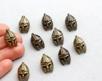 Antique Bronze Helmet Beads, Helmet Beads, Gladiator Helmet Beads,15/90Pieces, 18x11mm(Approz),sku/TOM10