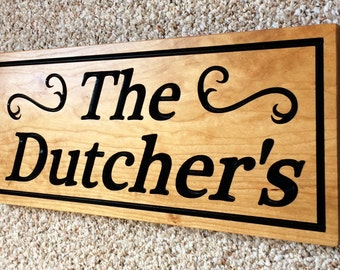 Personalized Family Name Sign Last Name Sign Custom Wood Sign Wood Plaque Couple Wedding Gift Carved Sign