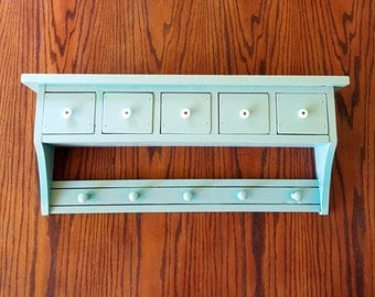 beautiful wall shelf w drawers plate rack hanger vintage wooden wall shelf storage rack shabby cottage farmhouse with wood plate racks for walls & Wood Plate Racks For Walls. Using Wood Glue I Attached The Molding ...