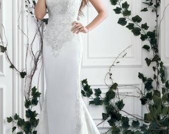 Satin Wedding Dress Mermaid Style