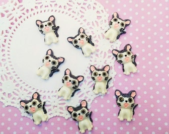 4pc Chi Cat 31mm Kawaii Resin Flatback Animal Cabochon Scrapbook Decoden Craft DIY