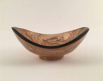 "Wooden Bowl, Maple Bowl w/ Spalt Figure 5-7"""