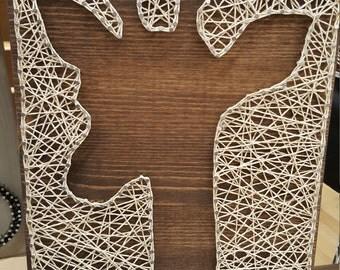 nail and string art etsy. Black Bedroom Furniture Sets. Home Design Ideas