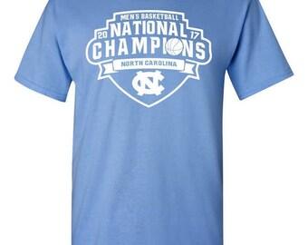 North Carolina Tar Heels 2017 Men's Basketball National Champions T-Shirt - Carolina Blue